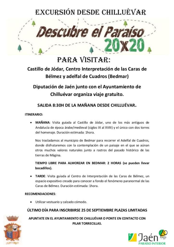 VIAJE 30 DE SEPTIEMBRE PARAISO 20X20